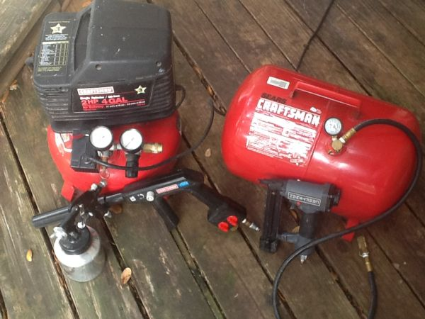 Craftsman Pancake air compressor with accessories  - $130 (Sugarland)