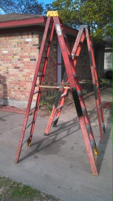 (8 Foot ladder fiber glass made) - $100 (45 N.  Gulfbank)