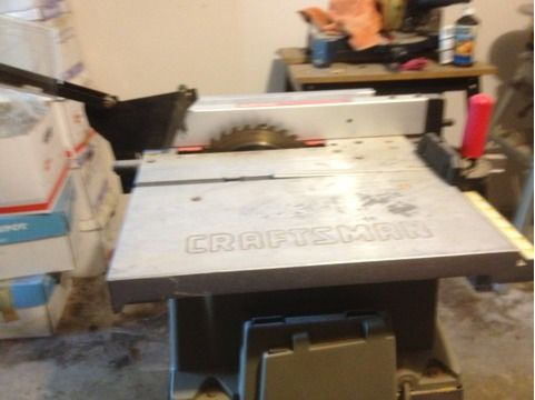 Craftsman Table Saw 10 inch 2.7 HP limited edition - $160 (Meyerland, Tx)