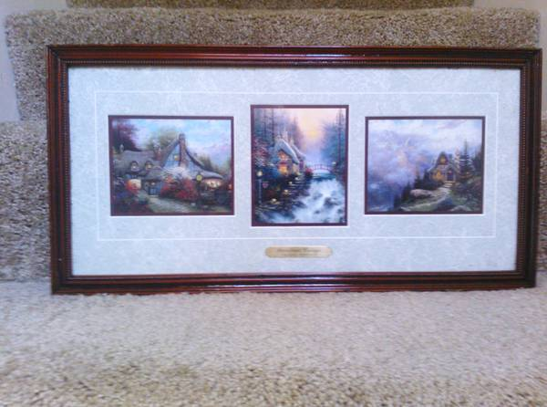 Thomas kinkade Portfolio framed accent prints-sweetheart cottages - $60 (clear lake)