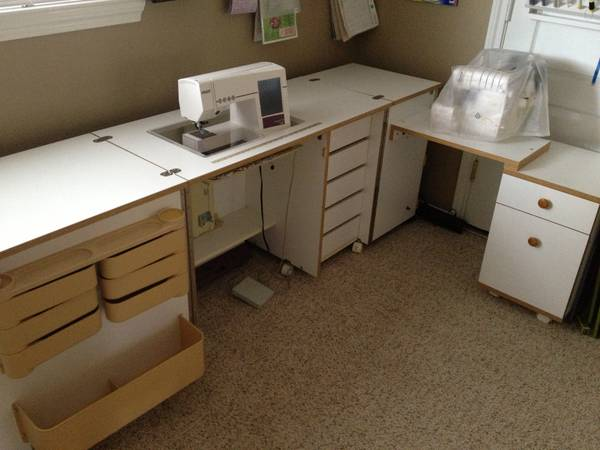 Deluxe Horn Sewing Cabinet Table - $800 (League City)