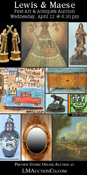 1  Fine Art  Antiques Estate Auction April 22 at 630 PM