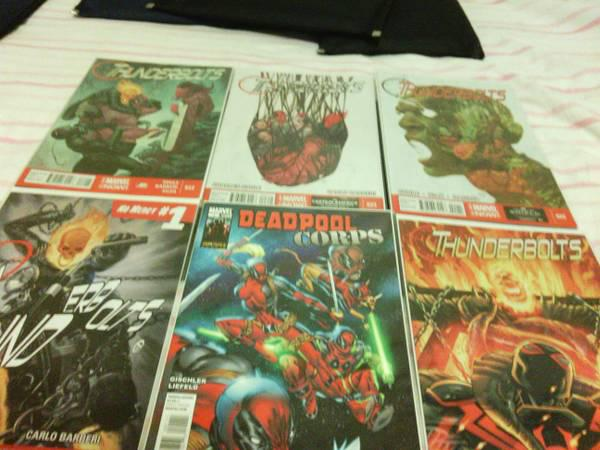 20  SellingSET 4 Comic Books of Deadpool Corps 1 Thunderbolts20 to32 Plus Signed Spiderman Card