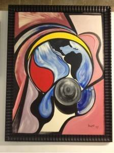 Original Terry Howse Abstract Painting - Large 52x40 - $100 (Spring)