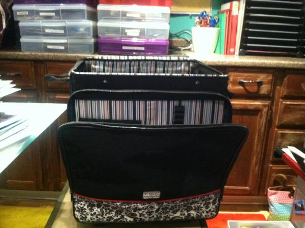 Crop in Style Scrapbook Rolling Tote - $60 (Katy, Cinco Ranch)