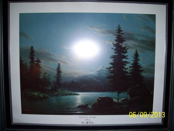 Dalhart Windberg Framed Print - Embraced by Moonlight - $125 (Houston, TX - East Side)