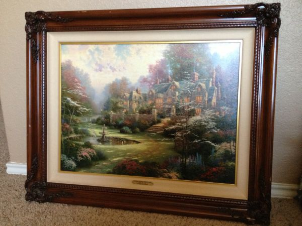 THOMAS KINKADE - LIMITED EDITION LITHOGRAPH PAINTING - $2400 (SAN ANTONIO)