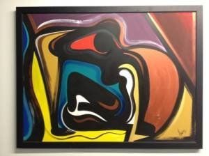 Original Terry Howse Abstract Painting - 38x50 - $325 (Spring)