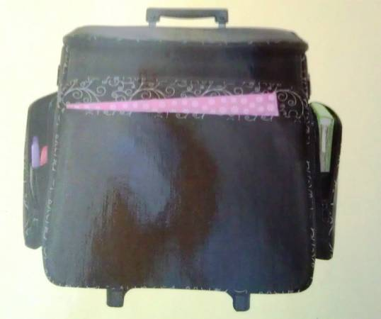 Brand New Recollections Scrapbook Rolling Tote with Telescoping Handle - $35 (Cypress)