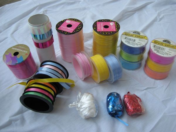 Ribbon - Curling, Fabric, Wired - bunches of it - $10 (Spring  N Houston)