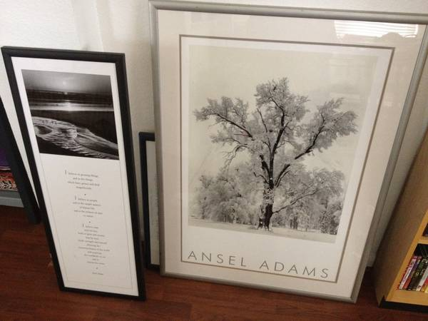 Pair of Ansel Adams Framed Photographs From 1998 Black White Tree.. - $45 (Katy, TX)