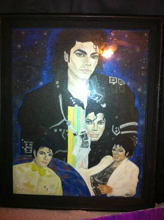 Michael Jackson paintings - $50 (Katy Texas)