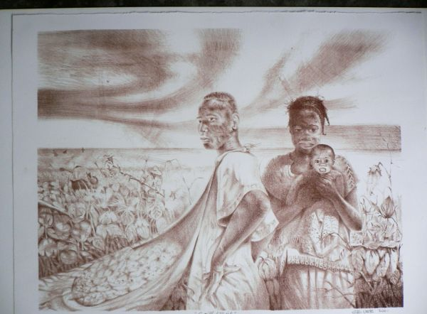 Houston Artist Charles Criner Lithograph Artist Signed (will trade) - $399 (10901 nw freeway 77092)