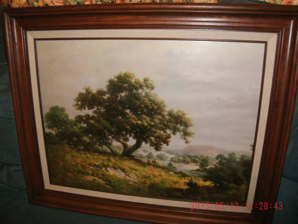 DALHART WINDBERG BIG TREE FRAMED PRINT - $150 (DAYTON, TEXAS)