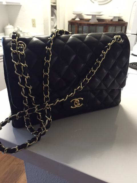 400  CHANEL Black Lamb Leather Vintage Mini Shoulder Bag - 400
