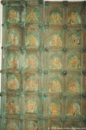 Antique Kamasutra Doors 7ft tall