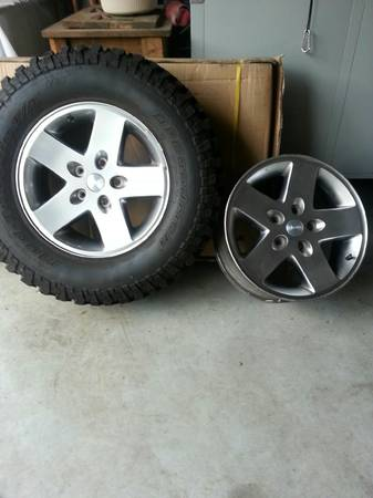 17 Stock Jeep Rubicon wheels, 1 tire - $300 (288 and beltway 8)