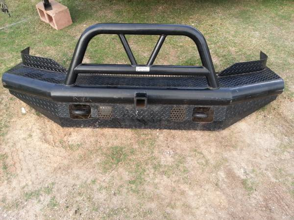 Black Ranch Hand Brand Front Bumper with Built-in Hitch - $1 (Hobby)