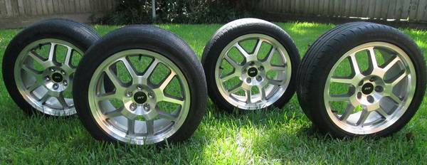 Ford Mustang GT500 2005-2014 SVT Rims 18X9.5 Tires w TPMS - $450 (Houston)