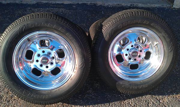 15 WELD RODLITE Wheels and Cooper Tires, 4 Lug Mustang and Others (Houston)