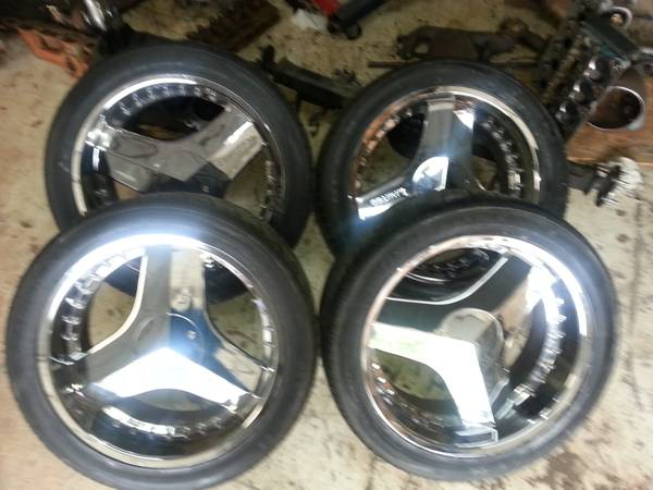 22 6lug ChevyFord blades wheels and tires - $450 (SW77478 Sugarland)