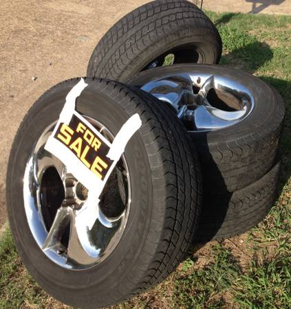 4 used tires 20 rims for ford f150 2000 - $275 (katy tx)
