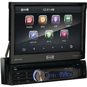 144  ZZSSL SD730M In-Dash Single-Din 7-inch Motorized Detachable Touchscre