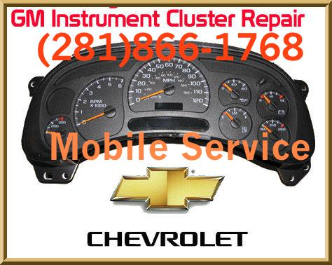 2003-2006 Chevrolet GM GMC Instrument Cluster Repair Service Lifetime Warranty