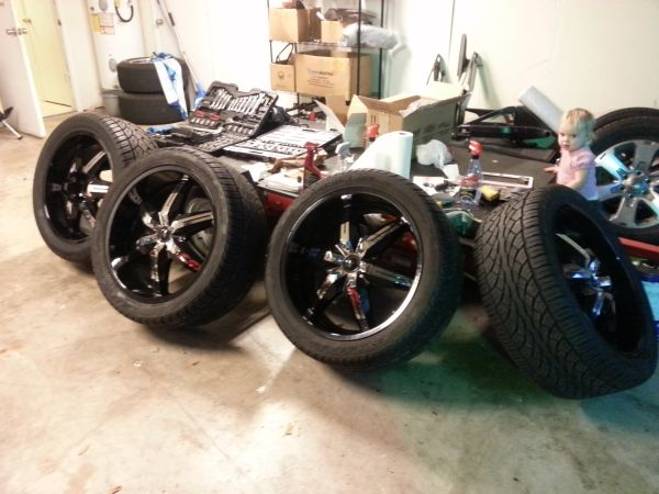 22s rims and tires ford truck 6 lug - $1000 (friendswood)