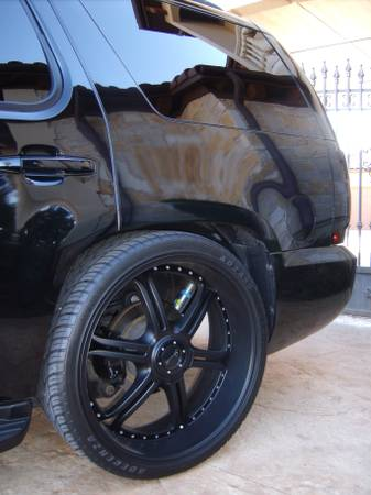 Black 26 Inch Gianelle Wheels Tires - $2100 (Woodlands)