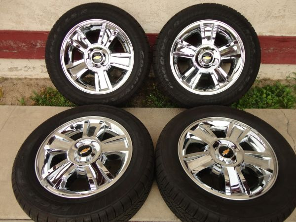 Chevy 20 Chrome LTZ Texas Edition Wheels Rims Tires BRAND NEW - $1200 (Houston)
