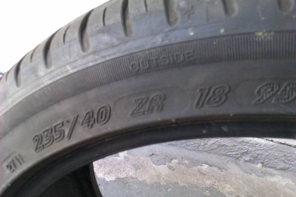 23540zr18 mismatched set of TWO 18 tires - $100 (Long Point Gessner NW)