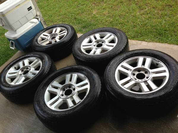 18 Ford F150 or Expedition OEM Factory Wheels 6x135 Spare Tires - $450 (Humble)