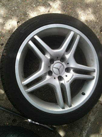 18 staggered set of Wheels with Tires - Mercedes AMG Style - $600 (hyw 6  Bellaire)