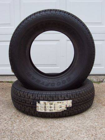 1 BRAND NEW Goodyear Marathon Trailer Tire 205 75 15 Load Range C - $75 (HWY 6 I-10)
