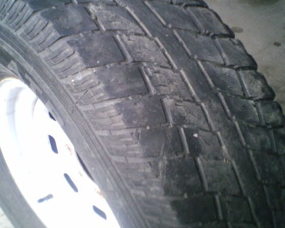 16  Ford 8 lug wheel and tire (good spare) - $50