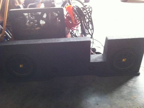 04-08 F150 Speaker box - $75 (Sealy)