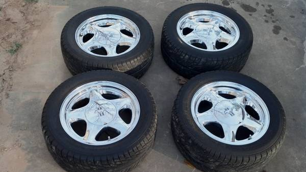 OEM Fox Body Mustang CHROME Pony Wheels - $500