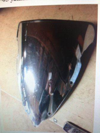 03-05 yamaha r6 chrome windshield - $25 (Willowbrook)