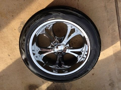 22quot chrome structure wheels with nitto tires universal 6 lug - $1100 (League city)