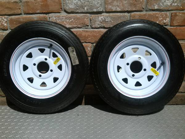 2 Brand NEW Carlisle ST 5.30-12 Trailer Tires  Wheels Load Range B  - $95 (Hwy 6  I-10)