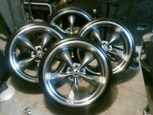 22 American Racing Shelby wheels n tires (North houston)
