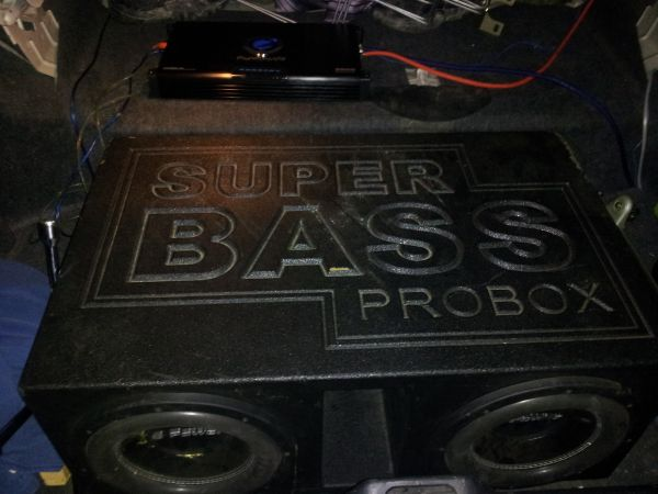 Two 12 Q-Power Deluxe Subs in Super Bass ProBox Planet Audio 5000w - $450 (North Houston (Spring))