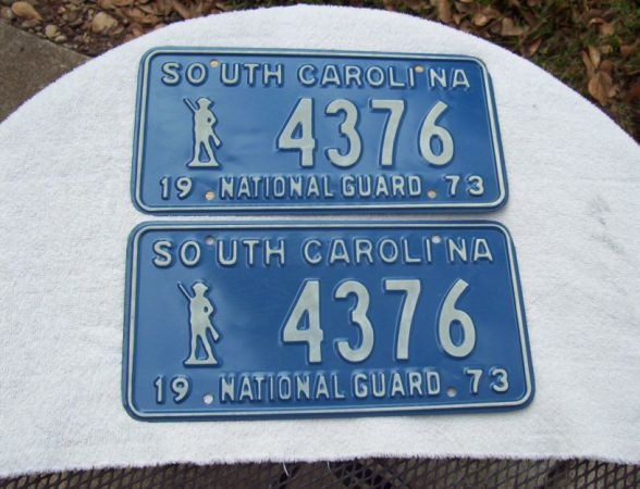 NATIONAL GUARD LIC PLATE - $50 (Spring)