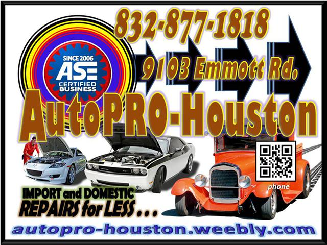 Call the other shops for a Quote        Then call AutoPRO-Houston for Best Price and Service