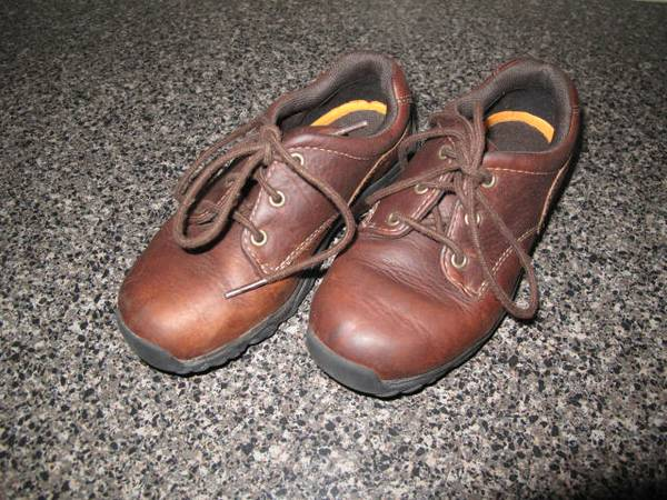 TIMBERLAND BOYS LACE-UP LEATHER BOOTS SIZE 12 - $15 (FRIENDSWOODPEARLAND)