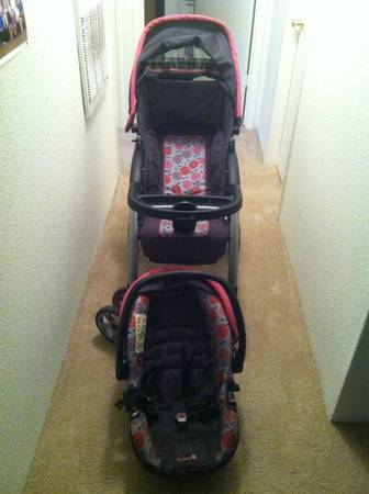 Stroller, car seat, baby walker and bouncer for sale (hobby)