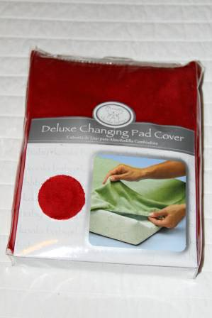 NEW Red Changing Pad Cover - $8 (Katy)