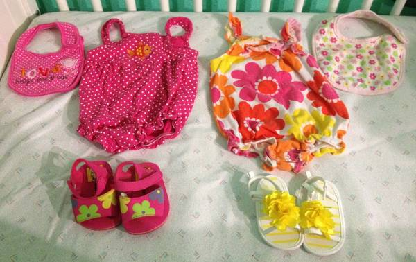 3-6 Baby girl summer 30 piece lot - $40 (77088 nw )