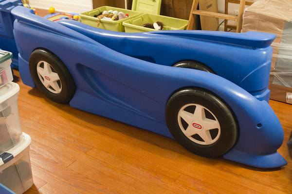 Blue Little Tikes Twin Race Car Bed $200 - $200 (Alvin, Texas)